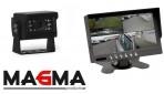 Complete set camera met MA-KC-009 heavy duty met 7 inch quad beeldscherm en 15 meter kabel