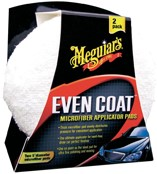 Meguiars Even-Coat Microfibre Applicator Pads - Diameter 12.7cm, Set à 2 stuks