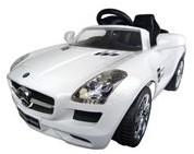 Accu-Auto Mercedes SLS AMG Wit - 6V - incl. MP3 - vanaf 3 jaar