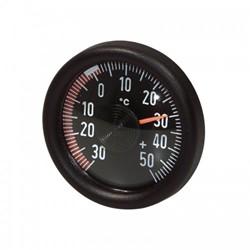 Analoge Buitentemperatuurmeter - Rond - Zwart