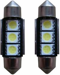 3 SMD Canbus LED kenteken 36mm C5W