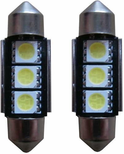 3 SMD Canbus LED kenteken 36mm C5W