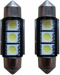 3 SMD LED kentekenverlichting 36mm C5W