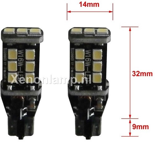 Canbus LED knipperlicht 15 SMD T15 / W16W-2