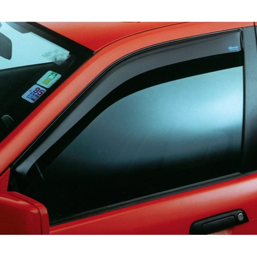 Zijwindschermen Dark Fiat Grande Punto 5 deurs 2005-2009 + Evo 5 deurs 2009-