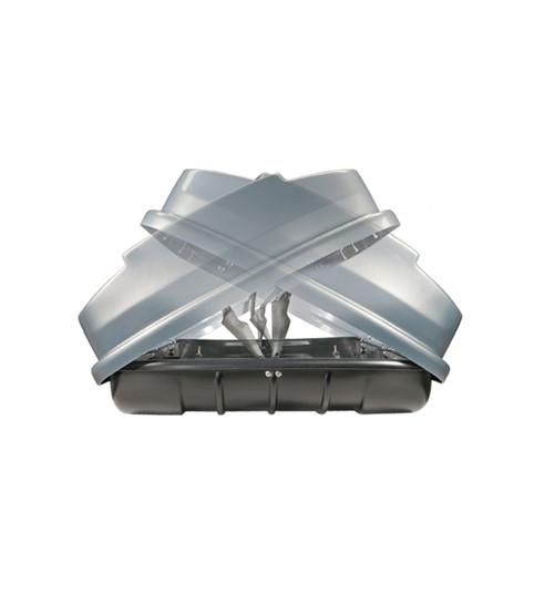 Zomer-/Winterbox Xtreme 600 Liter Dubbelzijdig Matzwart 200x100x46cm-2
