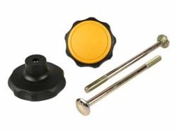 10623 Draaiknop zwart/geel met bout