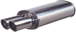 RVS Sportuitlaat Universeel - 125x225mm - 2x76mm Rond