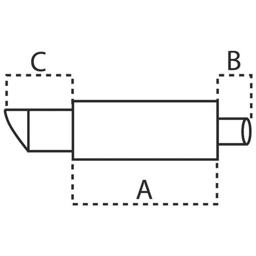 Stalen Sportuitlaat Universeel - 2x90mm Rond - 63,5mm aansluiting-2