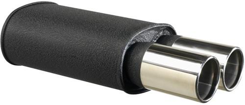 Stalen Sportuitlaat Universeel - 2x90mm Rond - 63,5mm aansluiting-1