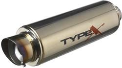 Sportuitlaat Universeel Type X-50 Racing 'DualSound' - Angle Tip - Titanium