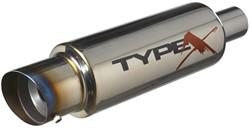 Sportuitlaat Universeel Type X-60 Racing 'DualSound' - Angle Tip - Titanium