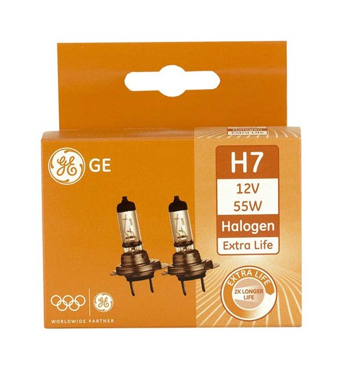 ADAC winnaar : GE Halogeen Extra Life 12volt 55 watt - H7