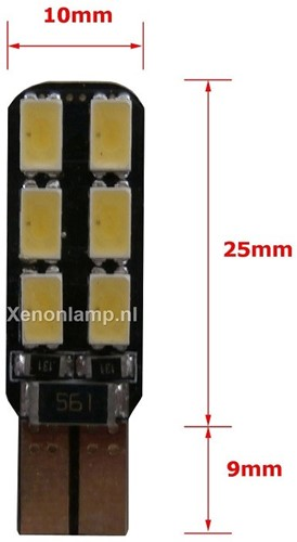 HP 12 SMD Canbus LED stadslicht w5w T10-2