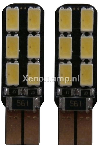 HP 12 SMD Canbus LED stadslicht w5w T10-1