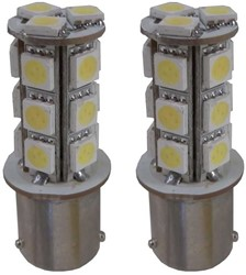 LED knipperlicht BA15s / P21w 18 SMD Oranje