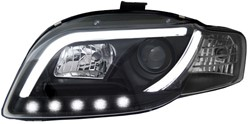 LED koplamp unit Audi A4 (B7) Black