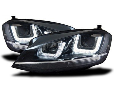 LED koplamp unit Black Chrome geschikt voor VW Golf 7