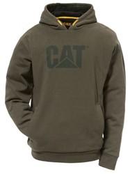 CAT Hoody PERFORMANCE, mosgroen