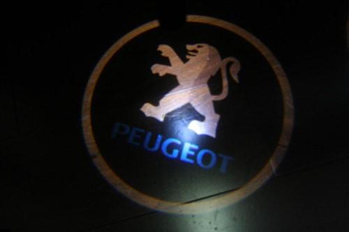 LED deur logo Peugeot-3