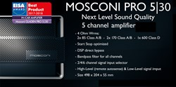 Mosconi PRO 5 30 5-kanaals versterker