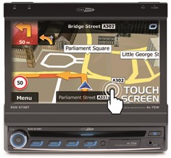 "Caliber DVD/USB/SD/MP4/AUX IN/BT/NAVI Touch 7"""" Motorized"