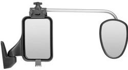 Repusel Alufor, Vlak Glas, Lange Arm. Geschikt voor caravans breder dan 2.30mtr