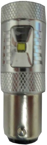30w Canbus LED achteruitrijlamp BA15s/P21W Wit-enkele lamp