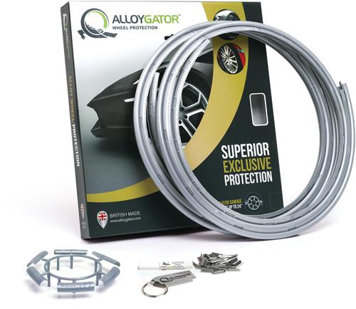 Set van 4 Exclusive AlloyGators zilver