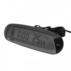 Thermometer binnen/buiten met klok en vorstalarm