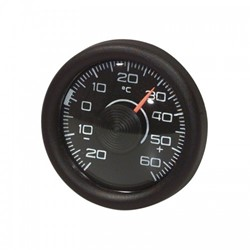 Analoge Thermometer - Rond - Zwart