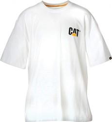 CAT T-Shirt LOGO, wit