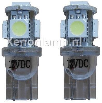 Xenon Look 5 SMD LED kentekenverlichting W5W T10-1