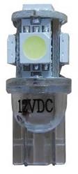 CANBUS LED Stadslicht 5 SMD motor BA9s - wit